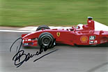 Rubens Barrichello signed photo